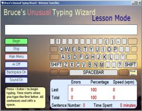 Bruces Unusual Typing Wizard Screen Shot 2