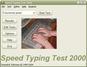 Speed Typing Test 2000 Screen Shot 2