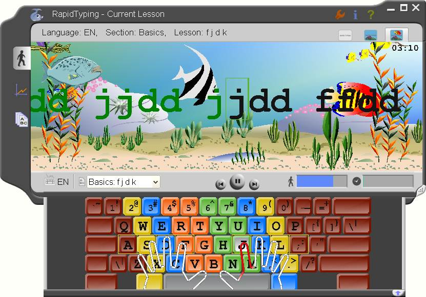 Click to view Portable Rapid Typing Tutor 3.3 screenshot