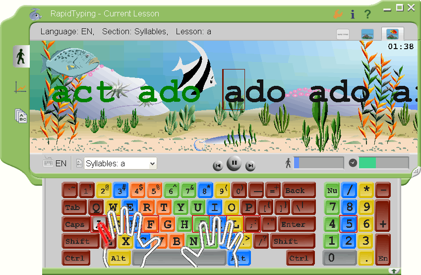 typing tutor, typing, typing software, typing program
