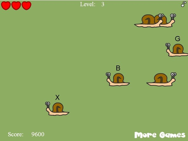 Image result for snail invasion typing game
